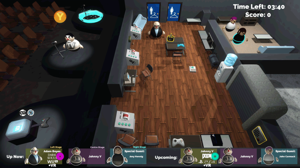 An Image showing the main level of the game.